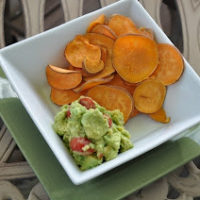 Sweet Potato Chips and Guacamole