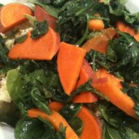 A Spinach and Sweet Potato Romance