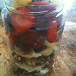 Fresh Fruit & Raw Granola Layered Breakfast